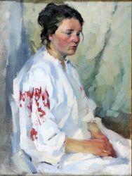 Портрет женщны в белом