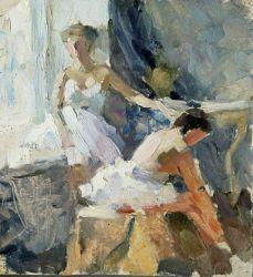 Балерины. Перерыв на репетиции. один из эскизов Академ постановки