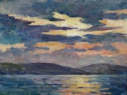 Морской закат солнца, г. Керчь, село Юркино