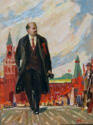 В.И Ленин на Красной Площади