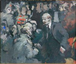 Ленин в окружении людей