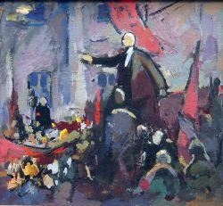 Речь Ленина эскиз