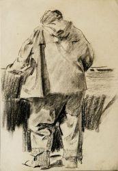 Фигура рыбака перед отплытием в море