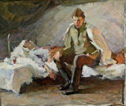 Эскиз картины После битвы. Сын на последней встрече с отцом