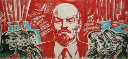Триптих плакат Вся влясть советам мир народам